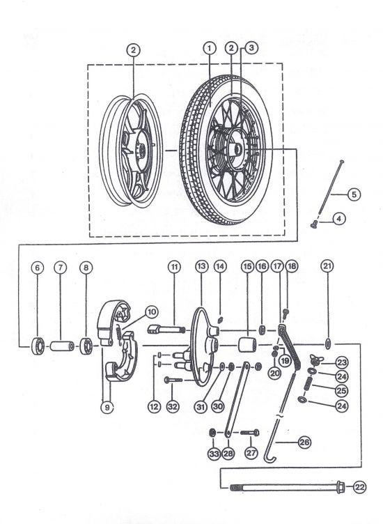 Hinterrad, Hinterradbremse ETZ 251/301