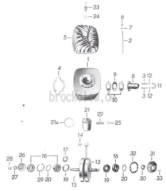 01 Zylinder, Kolben, Kurbelwelle