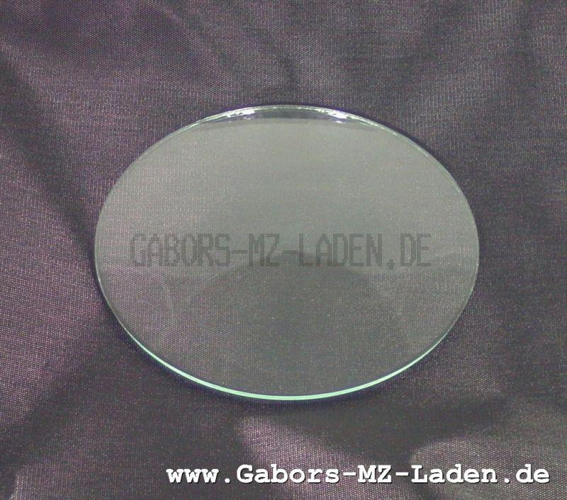 Tachometerglas gewölbt 80mm