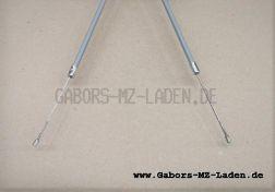 Bowdenzug/Seilzug Gas -grau- flach TS 250 250/1