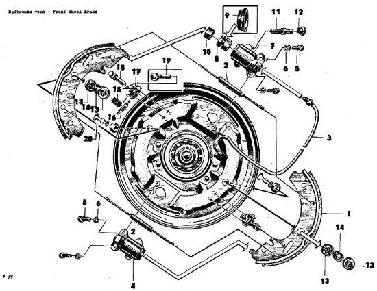 F39 Radbremse vorn