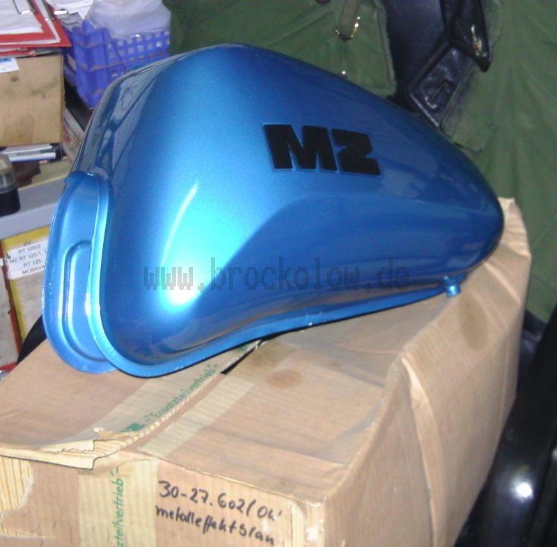 Kraftstoffbehälter (mit Abzeichen) metalleffekt blau