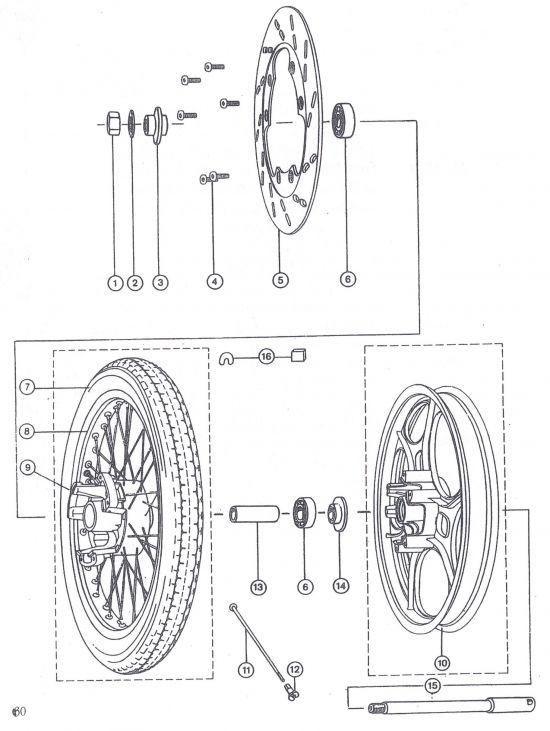 Vorderrad für Scheibenbremse ETZ 251/301