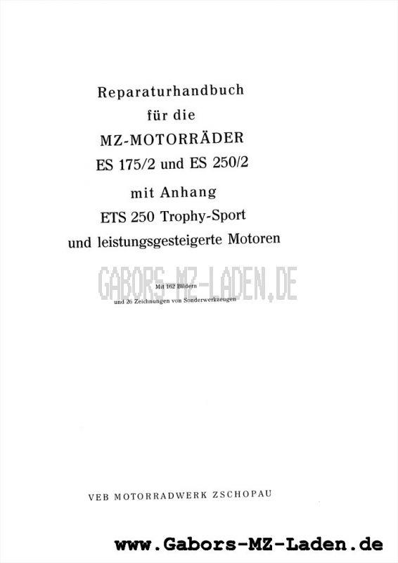 MZ ES 175/2, 250/2, ETS 250 Trophy Sport