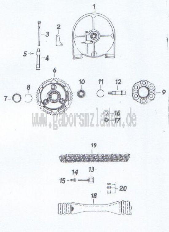 08. Hinterrad- und Tachometerantrieb