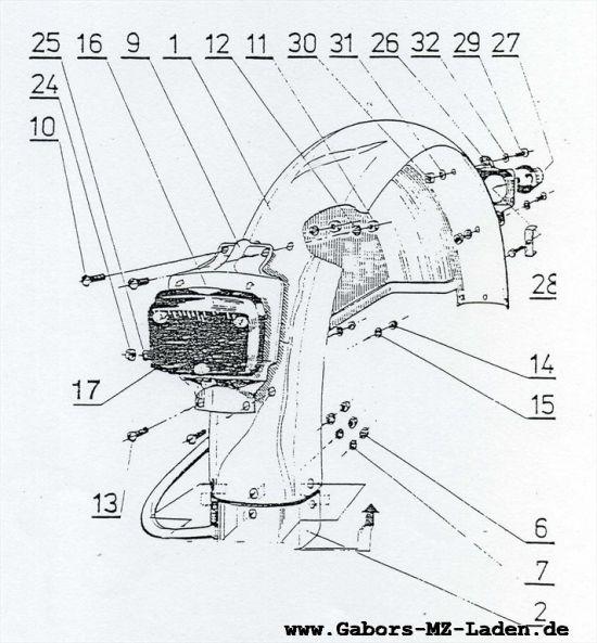 5.06 Seitenwagen - Kotflügel