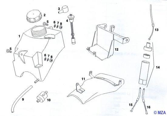 27. Ölbehälter - Seilzugverteiler