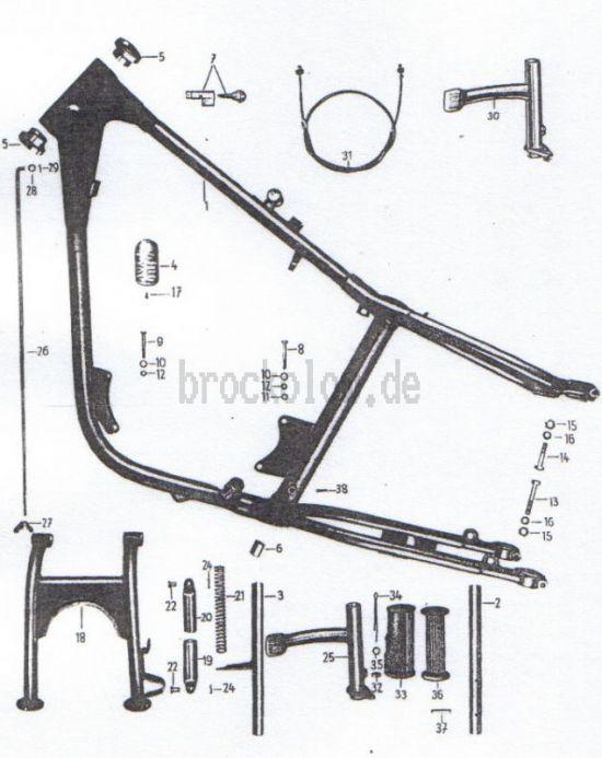 06. Rahmen, Kippständer, Fußbremse