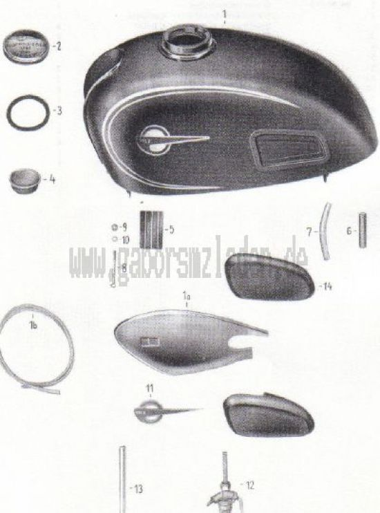 18. Kraftstoffbehälter, Benzinhahn