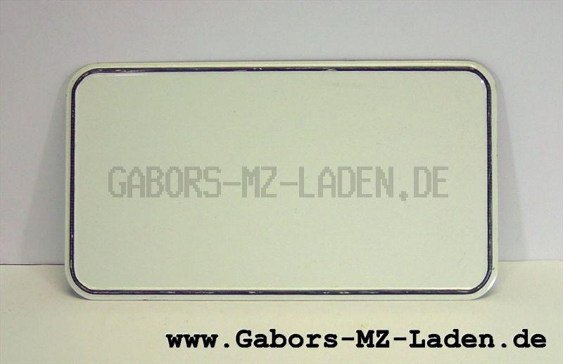 Kennzeichenschild 331x172, Blanko, B TGL15653