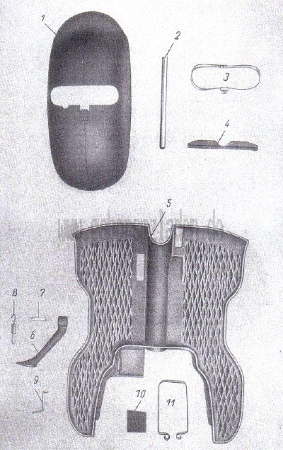 15. Bodenblech, Kotflügel vorn