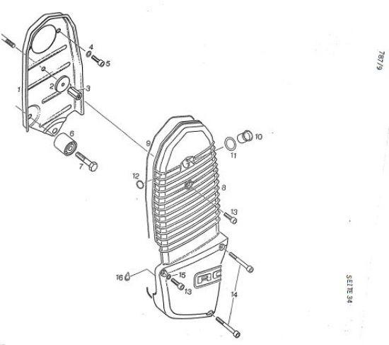 6.35 Motor - Steuertriebgehäuse, Steuertriebdeckel