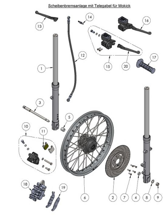 Fahrgestell - Telegabel SWH (07.1)