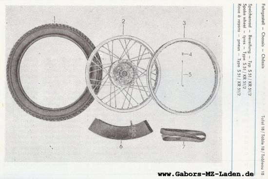 Fahrgestell - Speichenrad, Bereifung (18)