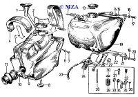 Kraftstoffbehälter und Ansauganlage