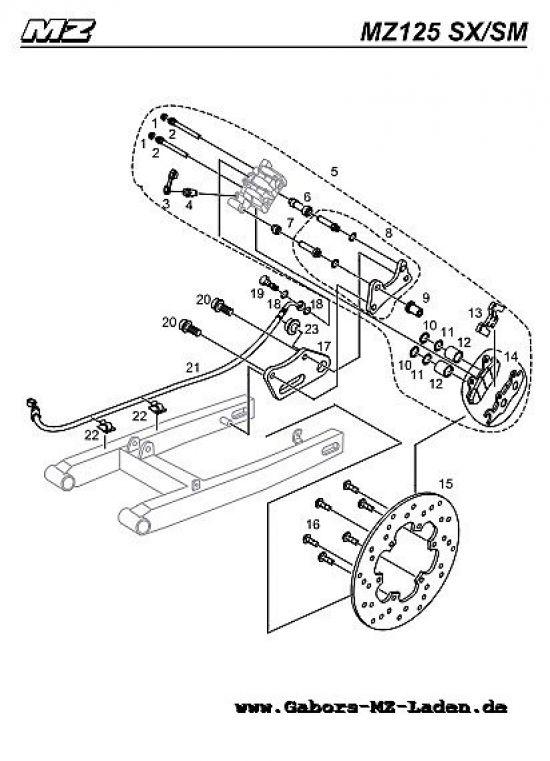 F11. Bremssattel & Bremsscheibe hinten