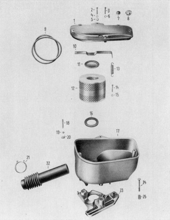 11a Ansauggeräuschdämpfung, alte Ausführung