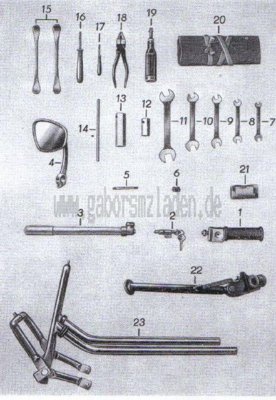 15. Zubehör, Werkzeug