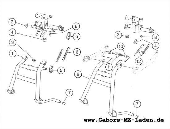 2.03 Fahrgestell - Kippständer
