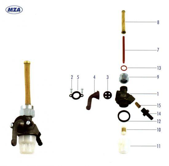 EHR Kraftstoffhahn (21384) MZ ES 175/1, 250/1, 300