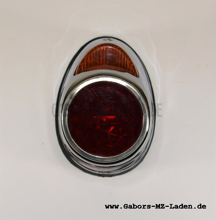 combined stop-tail-number plate lamp (rear light), with plate chromed
