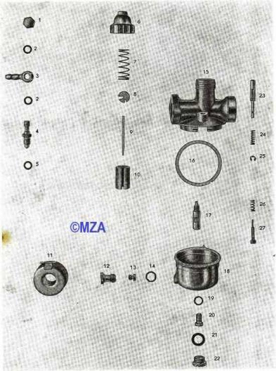 21. Vergaser NKJ 133-2