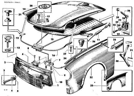 K17 Motorhaube