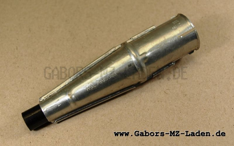 Spark-plug connector - straight with insulation (GDR RFT B14)
