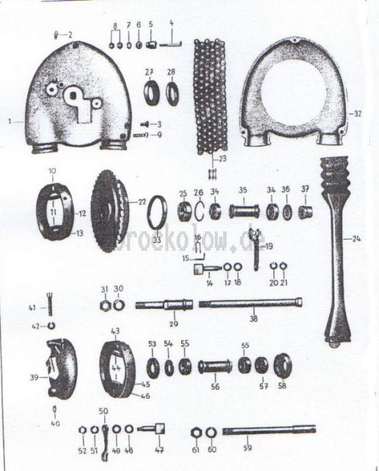15. Hinterradantrieb, Radnaben vorn und hinten bis Fg.-Nr.5002388
