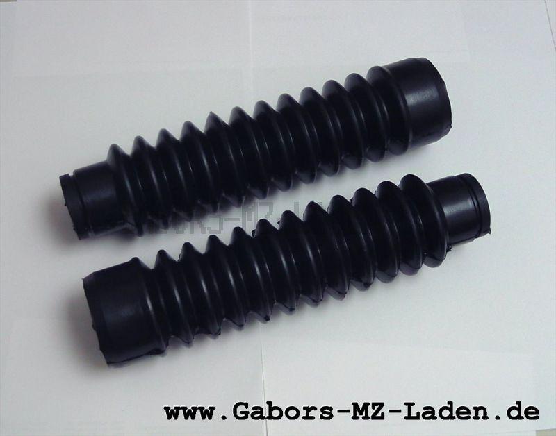 Satz Faltenbälge für Telegabel - aus synthetischem Kautschuk(Gummi) - Simson  Mokick / Roller - schwarz - ohne Abdeckkappe (207031)