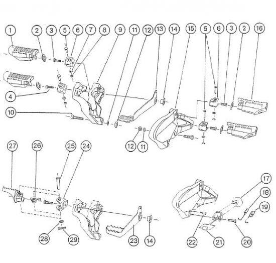 2.02 - Fahrgestell - Fußrastenträger