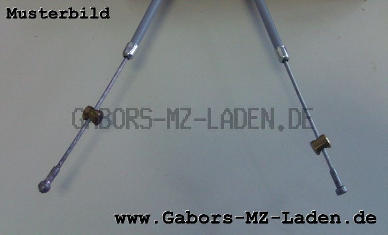 Bowdenzug/Seilzug Handbremse grau flach TS 125 150 250 250/1 ES 125 150 125/1 150/1 ETS 125/1 150/1