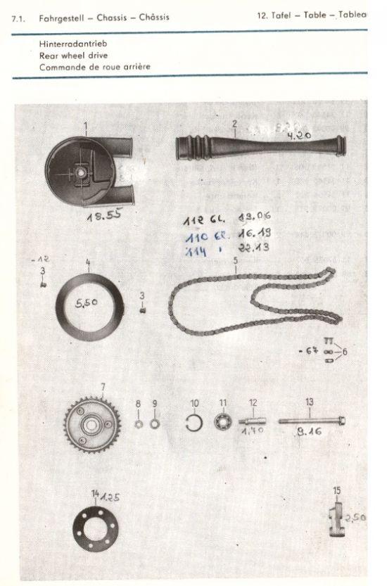 Fahrgestell - Hinterradantrieb (12.)