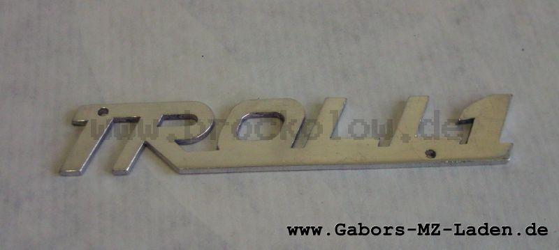 """Schriftzug """"TROLL1"""" Aluminium"""