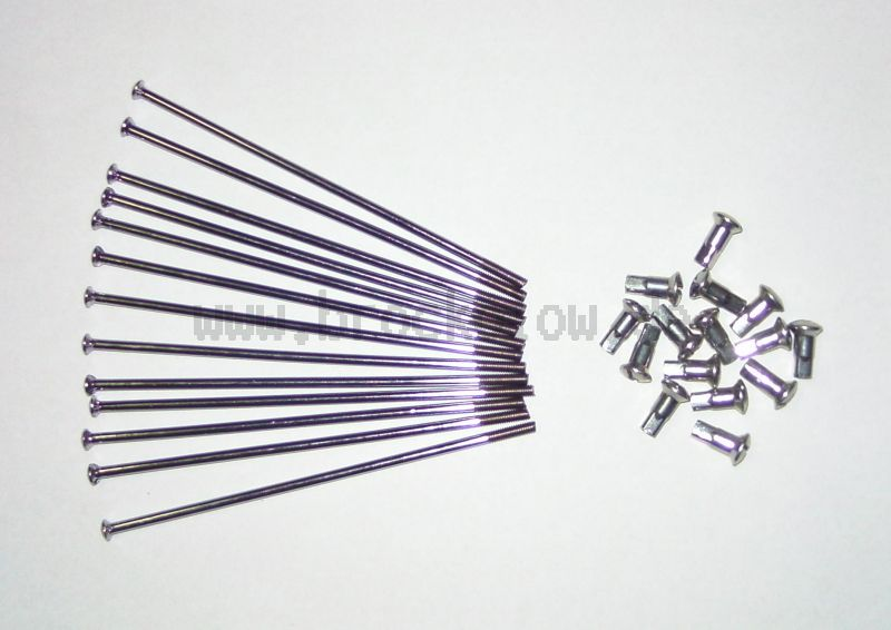 WWS Speichensatz M4-160 mm, 36 Stück Edelstahl incl. Nippel (Edelstahl-Optik)