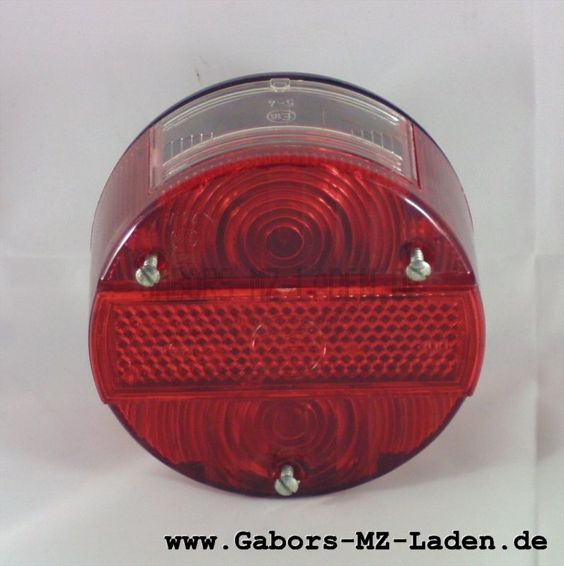 Bremsschlusskennz.leuchte kpl., rund, 3 Schrauben BKSL 8522.21 (mit Kennzeichenbel.)