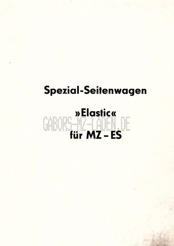 "Special sidecare ""Elastik"""