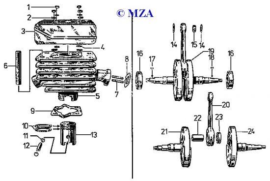 03 Zylinder und Kurbeltrieb