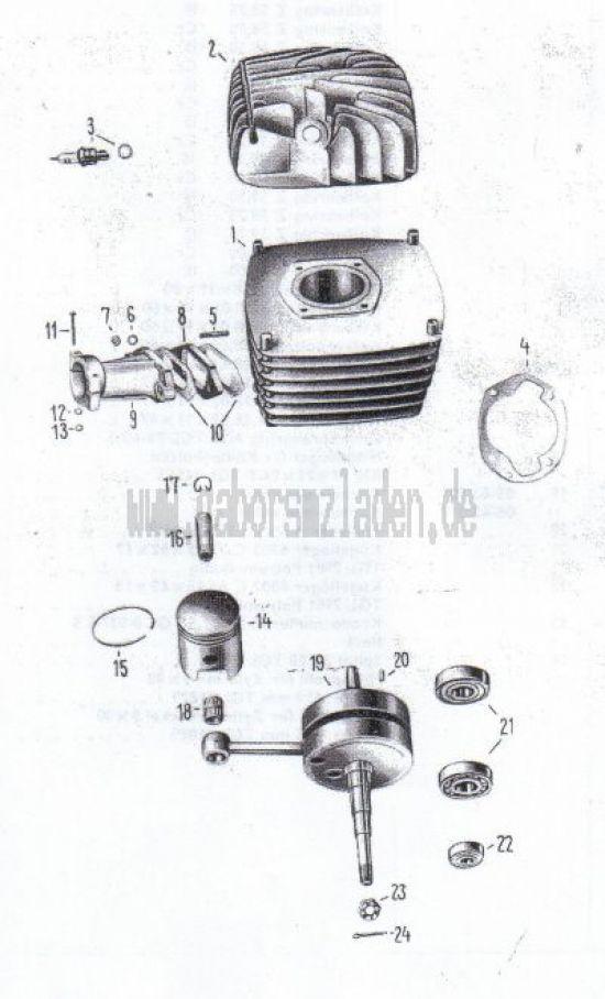 17 Cylindre, Piston, vilbrequin