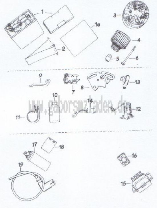 16. Batterie, Lichtmaschine, Regler