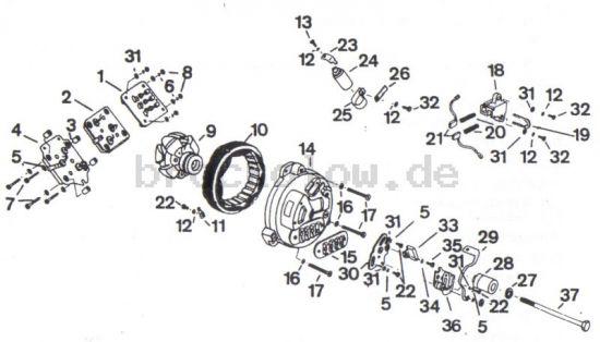 3.05. Einzelteile Lichtmaschine und Gleichrichter
