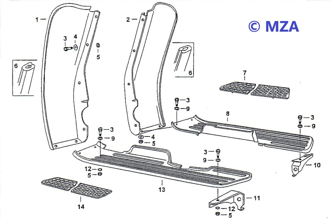 10. Beinschutz und Trittbretter