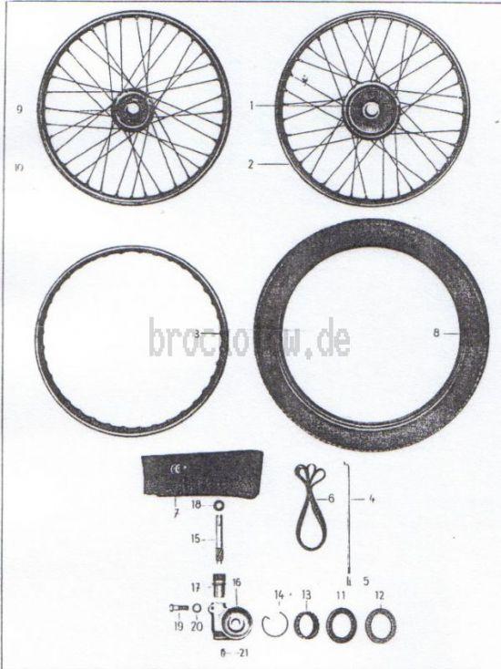 14. Räder, Bereifung, Tachometerantrieb bis Fg.-Nr.5002388