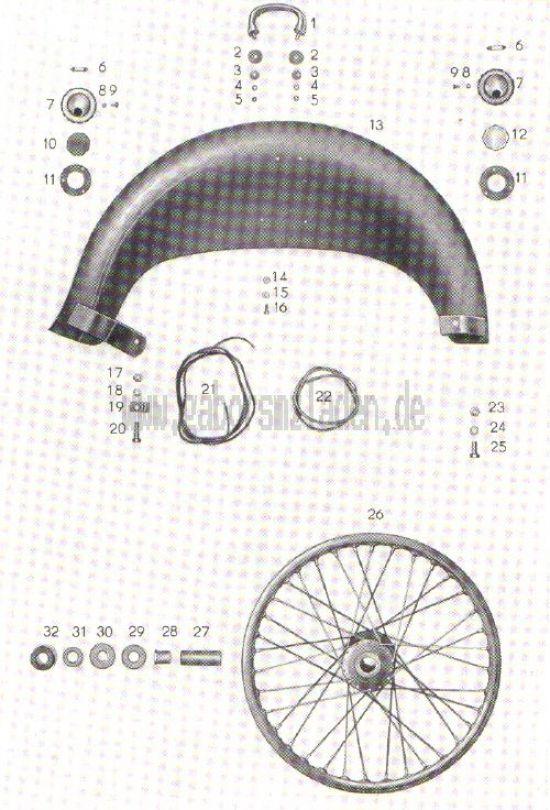 12. Kotflügel, Rad