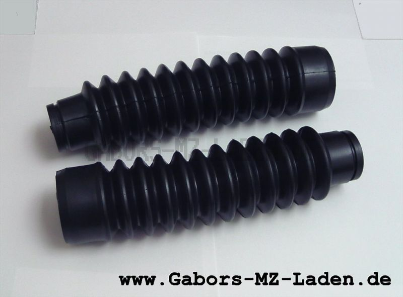 Satz Faltenbälge für Telegabel - aus einer Mischung aus PVC und synthetischem Kautschuk(Gummi) - Simson  Mokick / Roller - schwarz - ohne Abdeckkappe (207031)