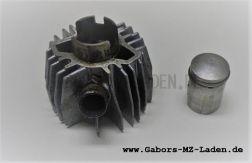 Zylinder/ Kolben komplett Mofa SL1, regenerieren,  incl. Original Kolben, Bolzen, Ringen und Sicherungsringen