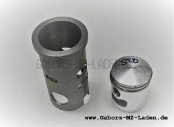 Laufbuchse + Kolben MAW Kpl. 39,75 mit Kolbenringen, Kolbenbolzen und Sicherungsringen