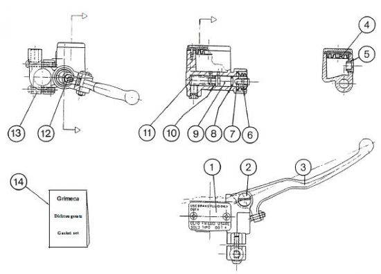 2.10.1 Fahrgestell - Bremszylinder 2