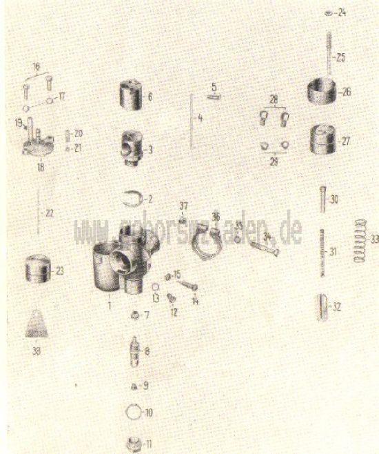 05. Vergaser, -einzelteile ES 125