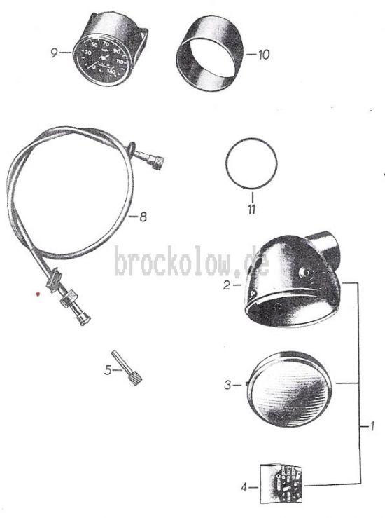 22. Scheinwerfer, Tachometer